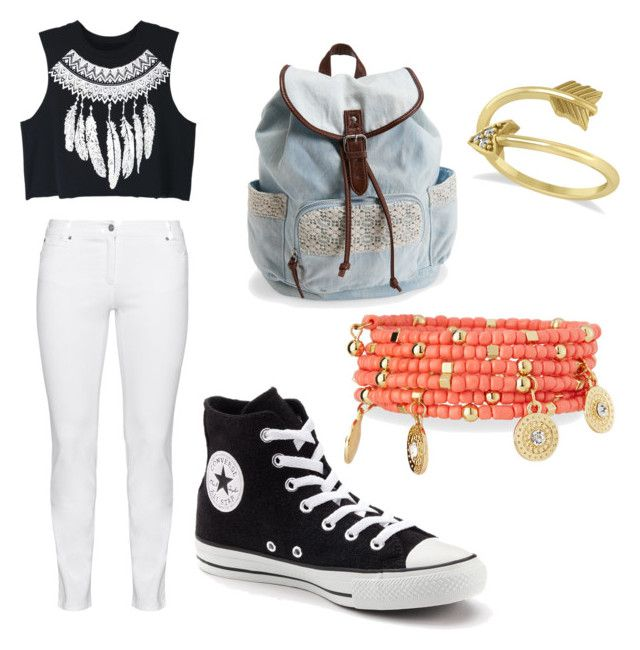 """After school"" by khill07 ❤ liked on Polyvore featuring WithChic, Steilmann, Aéropostale, Converse, Emily & Ashley and Allurez"