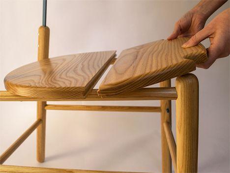 Marvelous transforming chair stepladder