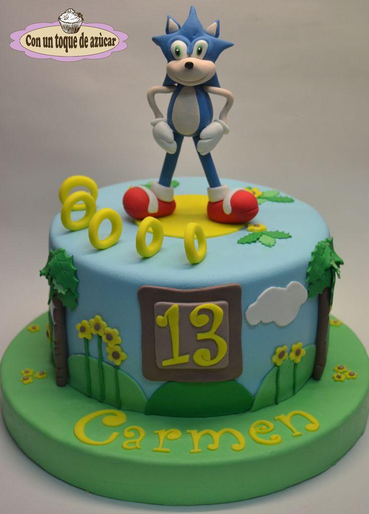 Sonic Fondant Cake