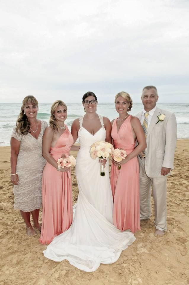 Maggie sottero delanie maggie moore sottero henkaa coral for Coral bridesmaid dresses for beach wedding