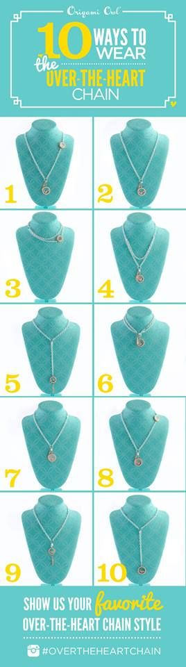 Over the heart chain.  Origami Owl.