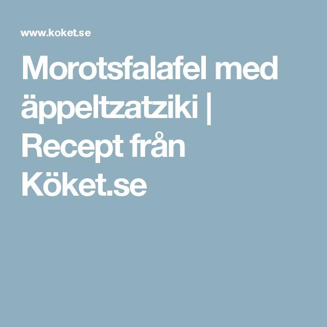 Morotsfalafel med äppeltzatziki | Recept från Köket.se