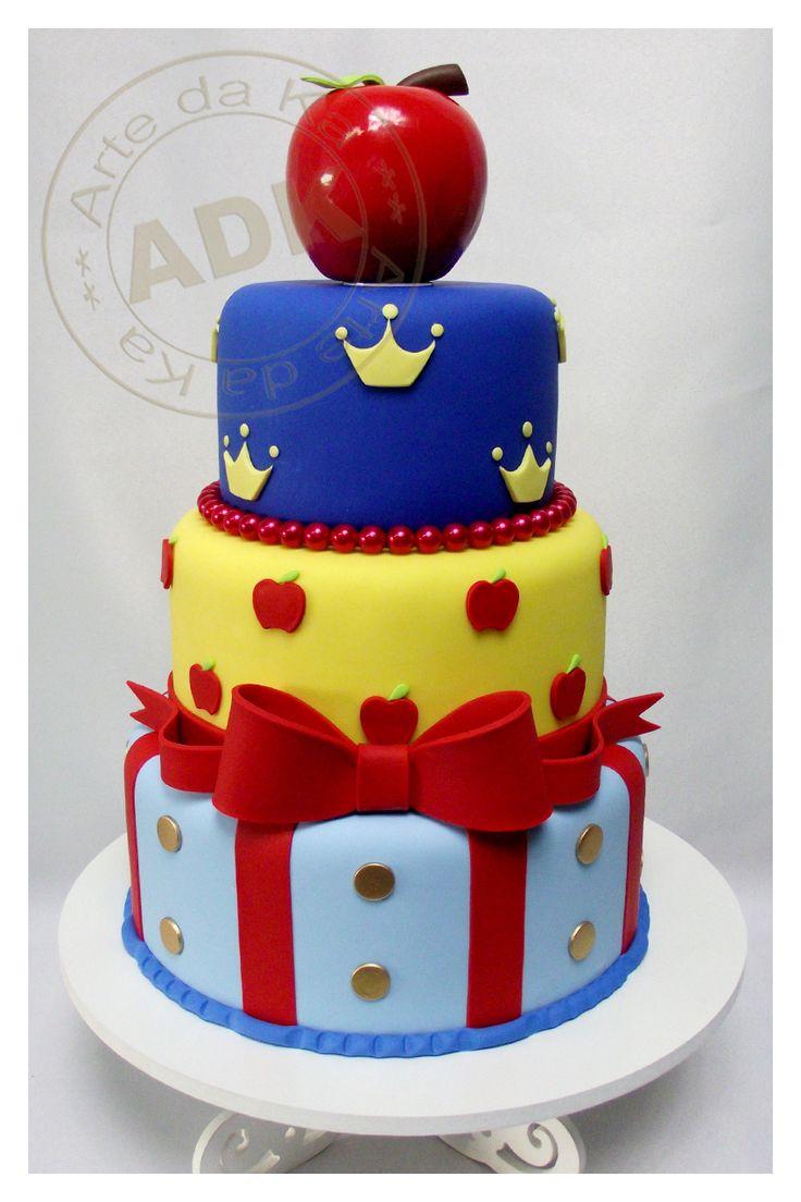 Bolo Branca de Neve - Snow White cake