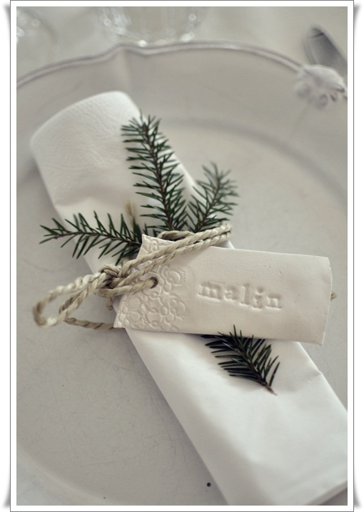 placecard / simple napkin ring