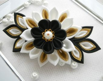 Handmade Kanzashi ladies women grosgrain by MARIASFLOWERPOWER