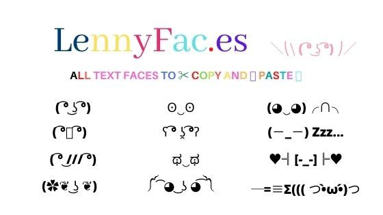 Lenny Face ʖ To Copy And Paste Emoji Texts Face Text