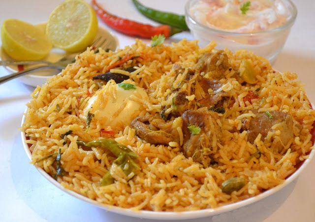 Pollo Biryani (arroz con pollo hindú)