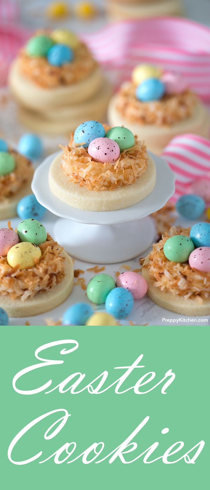 Easy Easter Cookies Tutorial   Easter Cookies Decorating tips and ideas using chocolate eggs   Bird's Nest Decoration   Frugal Easter Decorating Ideas #easter #cookies #easteregg #desserts #chocolate #chocolateeggs #eggs