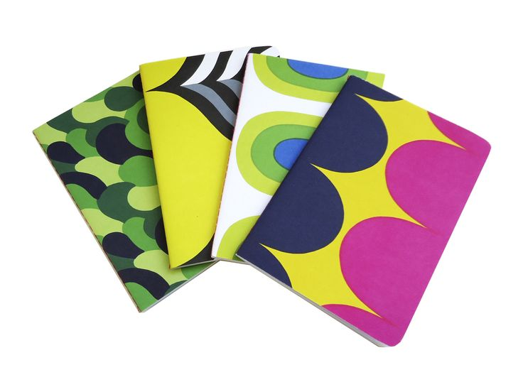 These mini journals from Marimekko are perfect for keeping in your handbag. They come in a set of 4 - 2 lined, and 2 unlined.