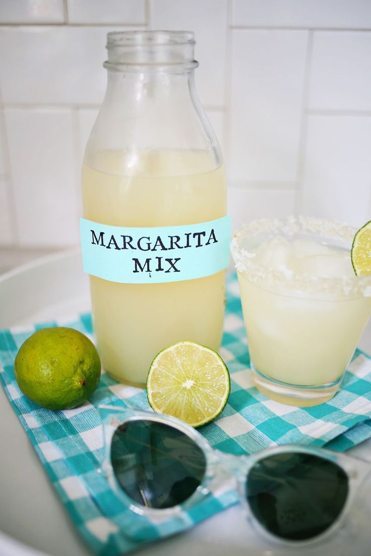 Homemade Margarita Mix (so much better fresh!!)