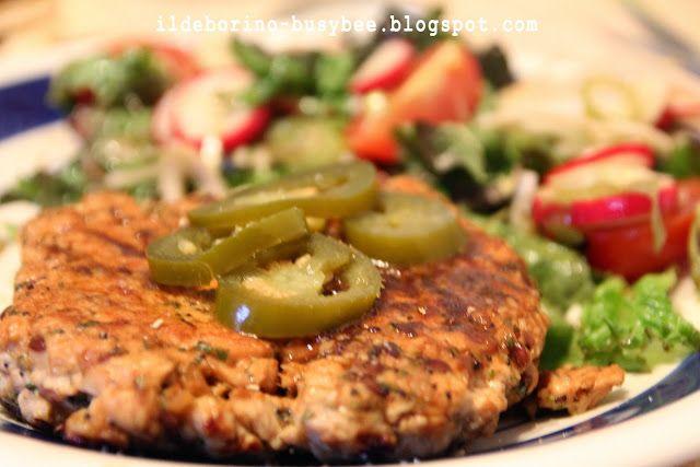 Hamburger di Tacchino alle alle Erbe Aromatiche or Turkey and Herbs Burger