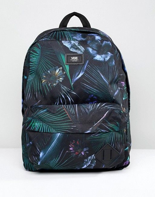 cc9ddf09386 Vans Old Skool II Printed Backpack In Black V00ONIPI3