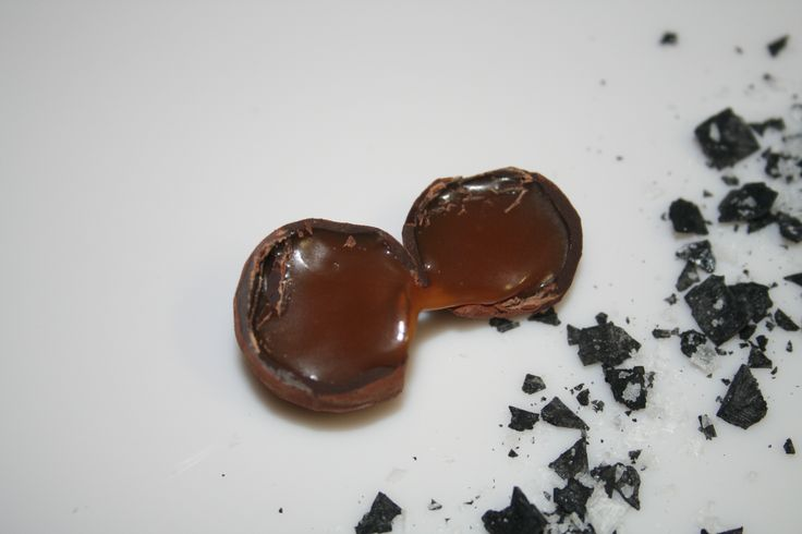 Black and White Sea Salt Truffles