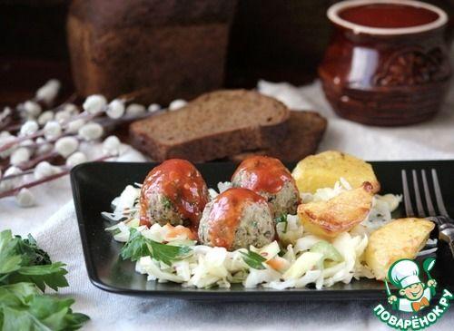 Фрикадельки из баклажанов и белой фасоли - кулинарный рецепт
