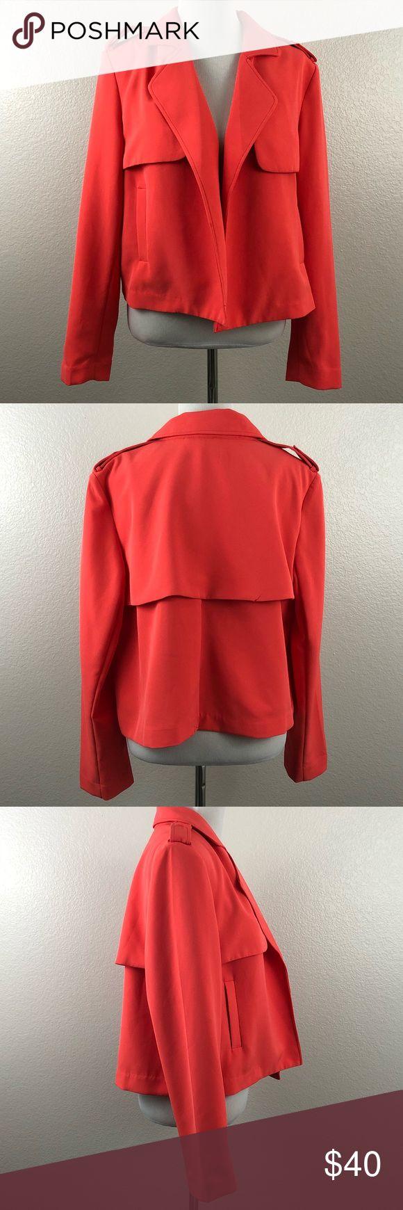 "Lane Bryant Women's EUC Open Peach Blazer size 14 Lane Bryant Women's EUC Open Front Peach Blazer size 14  False Front Pockets.  Length (Shoulder to Hem) - 22""  Armpit to Armpit - 20"" Lane Bryant Jackets & Coats Blazers"