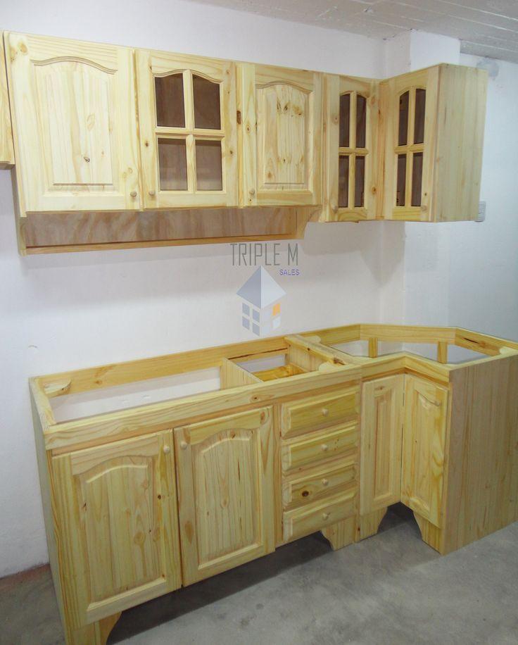 Bajo Mesada En 1,00m Pino Macizo Oferta Muebles De Cocina - $ 1.430,00 en Mercado Libre