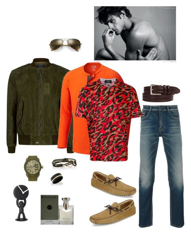 """Untitled #756"" by lianatzelese on Polyvore featuring Calvin Klein Jeans, Tod's, Johnston & Murphy, Umbra, Polo Ralph Lauren, MIANSAI, Diesel, Bulgari, Ray-Ban and Mountain Hardwear"