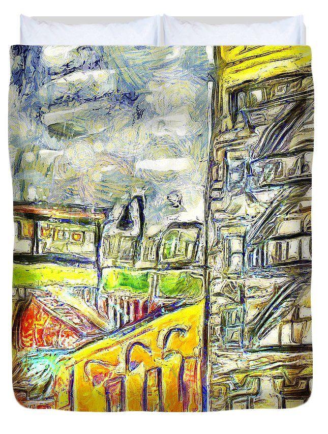 Street Duvet Cover featuring the digital art Forgotten Streets by Riccardo Zullian