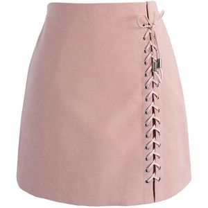 Chicwish Lace-up Tribe Bud Skirt in Pink