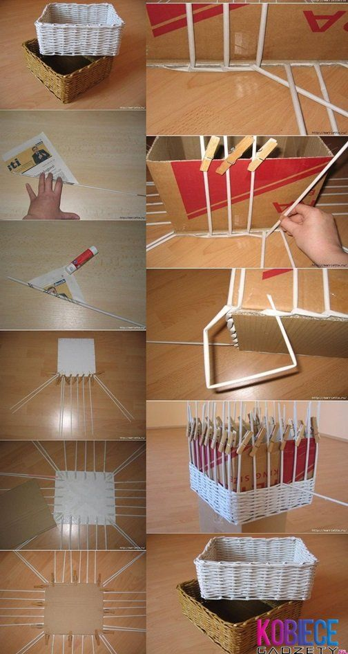 Paper basket Diy, site in polish, just need picture