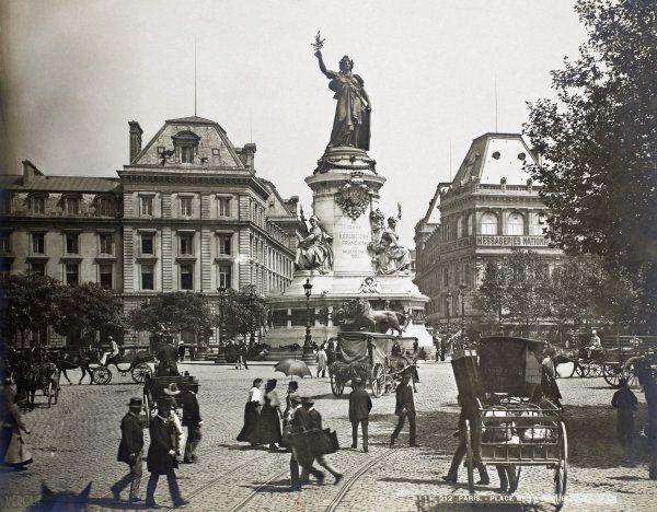 Place de la République. Paris. Circa 1889