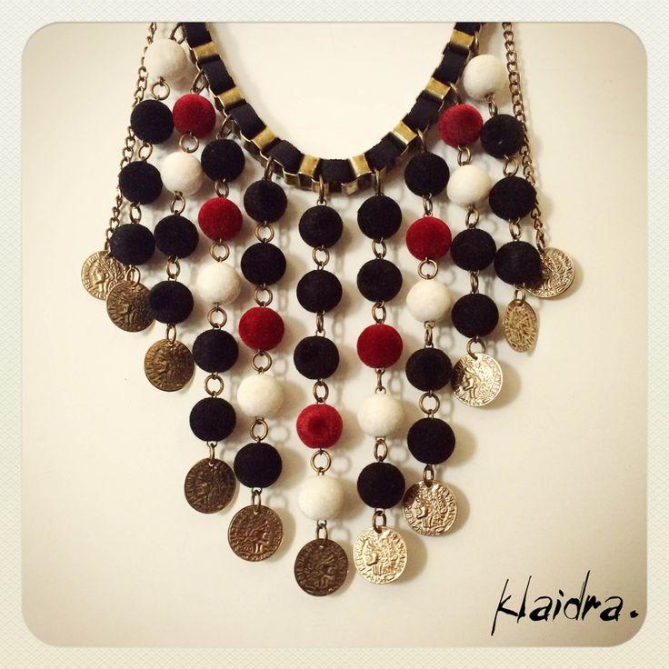 #klaidra #jewelry #handmade #bohemian #ethnic #gypsy #fashion #beaded #necklace #velvet #statement #designers #greekdesigners #klaidrajewelry