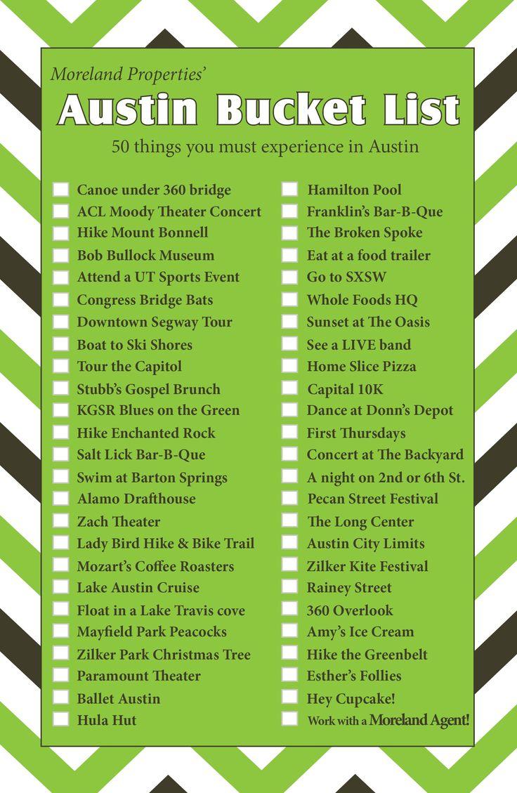 Austin Bucket List - 50 things you must experience in Austin, TX #austinbucketlist #morelandproperties