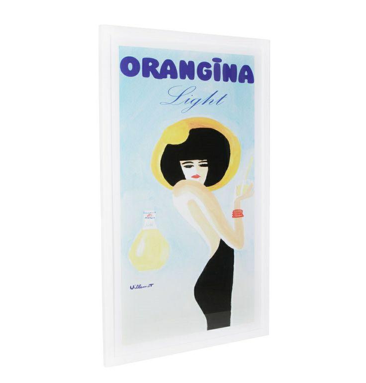 Vintage Style Orangina Light Framed Print - 100 x 160 - Matt Blatt