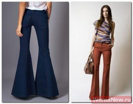 Летние брюки клеш для беременных
