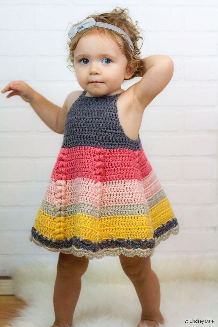 Cute Crochet Baby Dresses