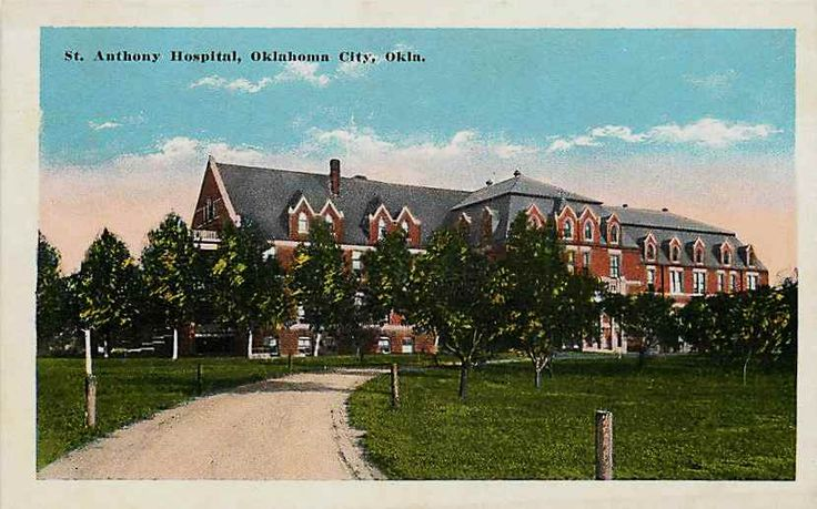 Oklahoma City Oklahoma OK 1915 St Anthony Hospital Vintage Postcard