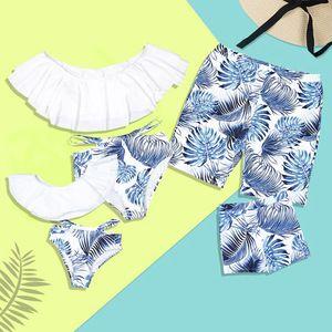 Hersteller Big Ruffle Floral Print brasilianischen Strand Männer Kinder Bikini für kleine Mädchen Frauen Kid Bikini Familie Bademode   – Apparel