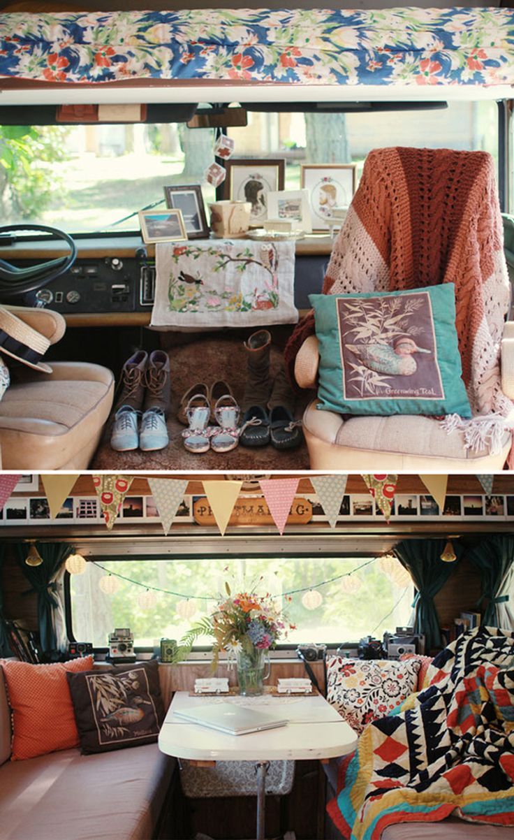 If I had to live in a van, this is how I'd decorate...