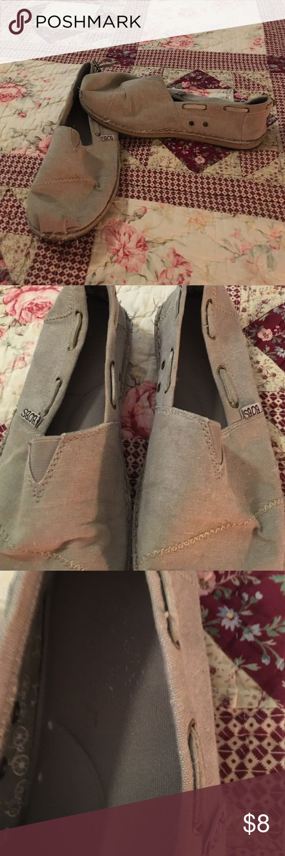Skechers slip on shoes🍁 Slip on bobs Skechers with memory foam. Well loved but in good condition 🍁 Skechers Shoes Espadrilles