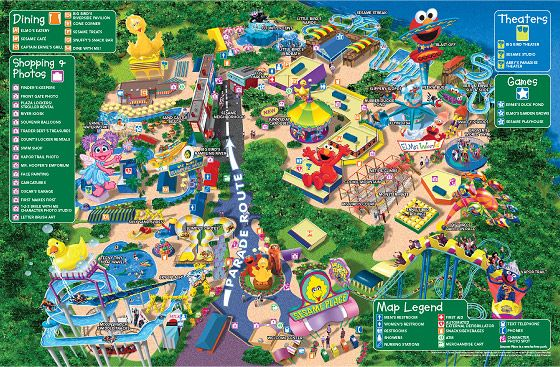 Sesame Place, PA. An actual Seseme Street-themed 'amusement park'!
