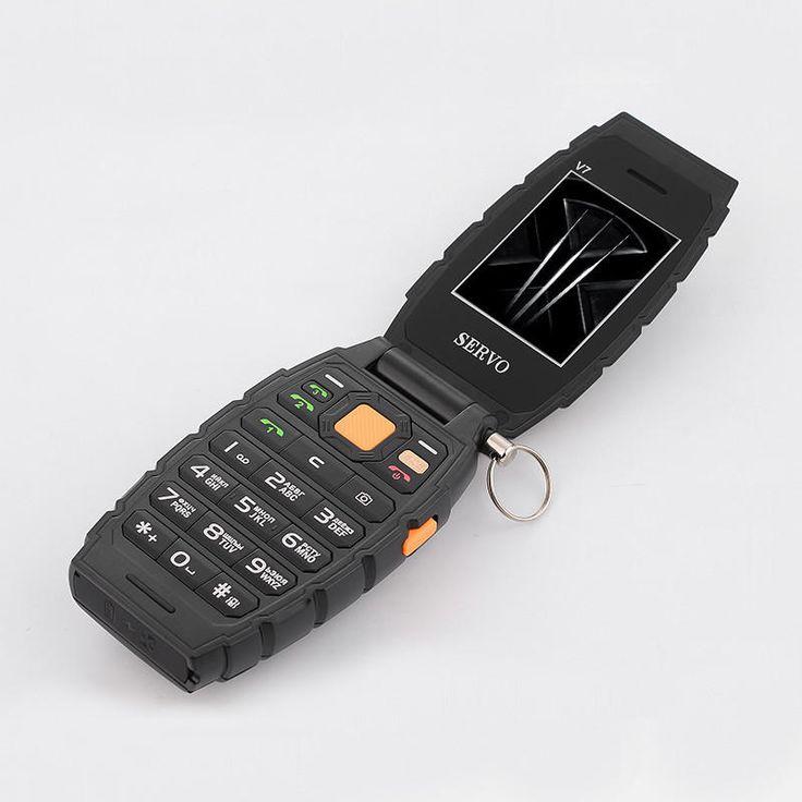 Servo V7 3000mAh 2.4-inch OTG 3 SIM Card 3 Standby Power Bank Outdoorts Mobile Phone Sale - Banggood.com