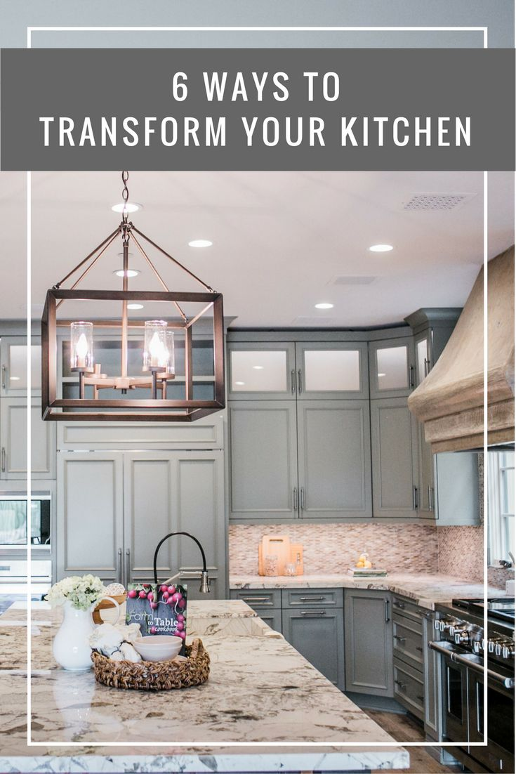 """When you think of """"transforming"""" a space, you might think of the iconic """"move that bus!"""" moment from the TV show """"Extreme Makeover: Home Edition"""". But, truth be told, a transformation doesn't have to be that, well, extreme. Here are 6 ways to transform your kitchen, no TV crew required"""