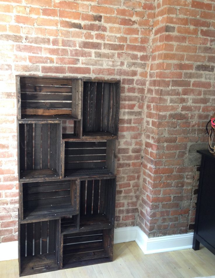 Thinking about building my own bookcases from now on. Could probably also adapt the idea to make a dresser and TV stand instead of spending $$$$ on new ones. I love the rustic feel!