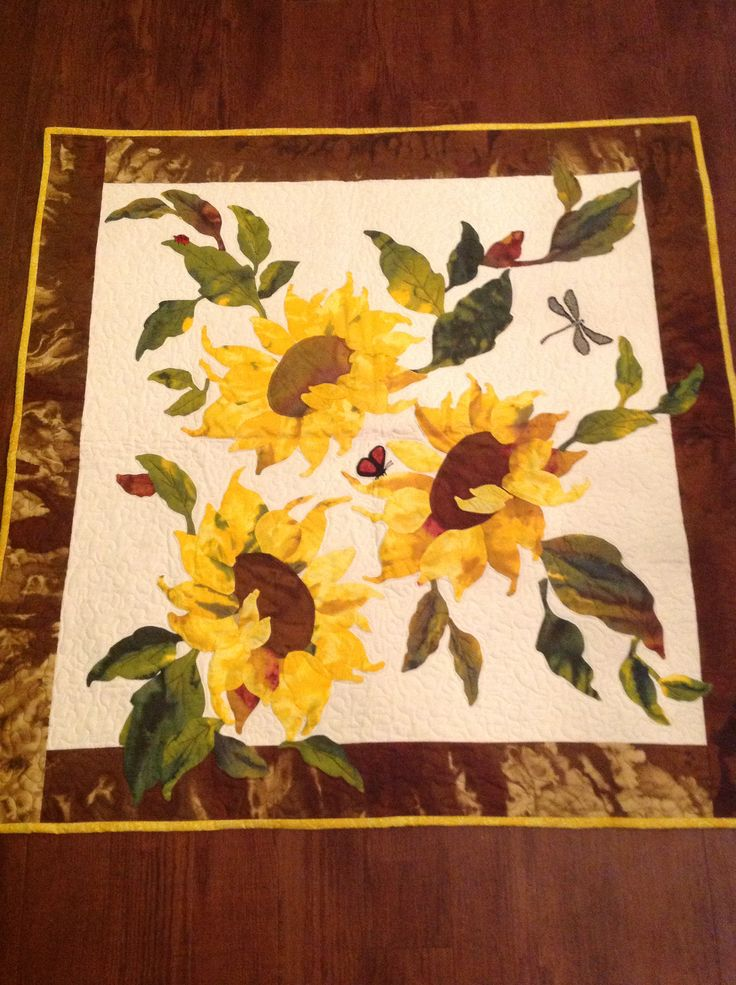 Sunflower Quilt For Krystin Quilting Pinterest