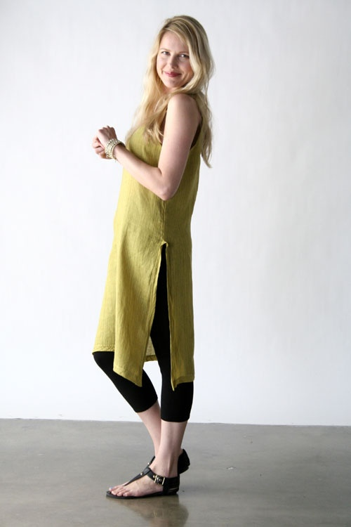Cp Shades Clothing 2012  Meena Side Slit Tunic  100% Linen    Price: $162.75