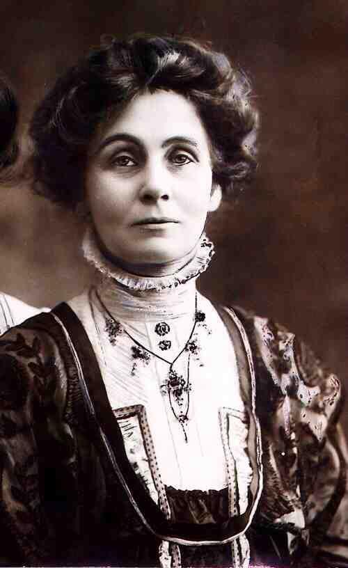 Эммелин Панкхёрст (1858 — 1928), английская общественная и политическая деятельница, борец за права женщин, лидер британского движения суфражисток