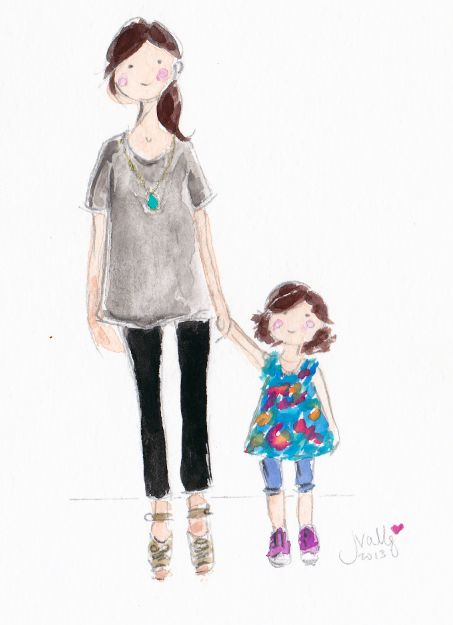 Custom watercolor by Jennifer Vallez