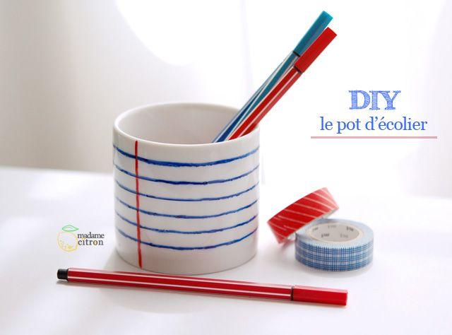 pot à crayon original - DIY pencil holder - madame citron