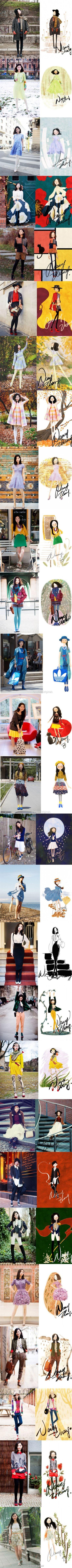 NANCY ZHANG 将插画照进现实的女子。