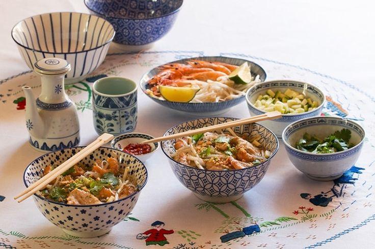 Bo Bun au poulet, crevettes, Bún Gà và Tôm