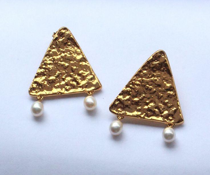Custom corn chip earrings dripping in pearls by Lucy Folk!!