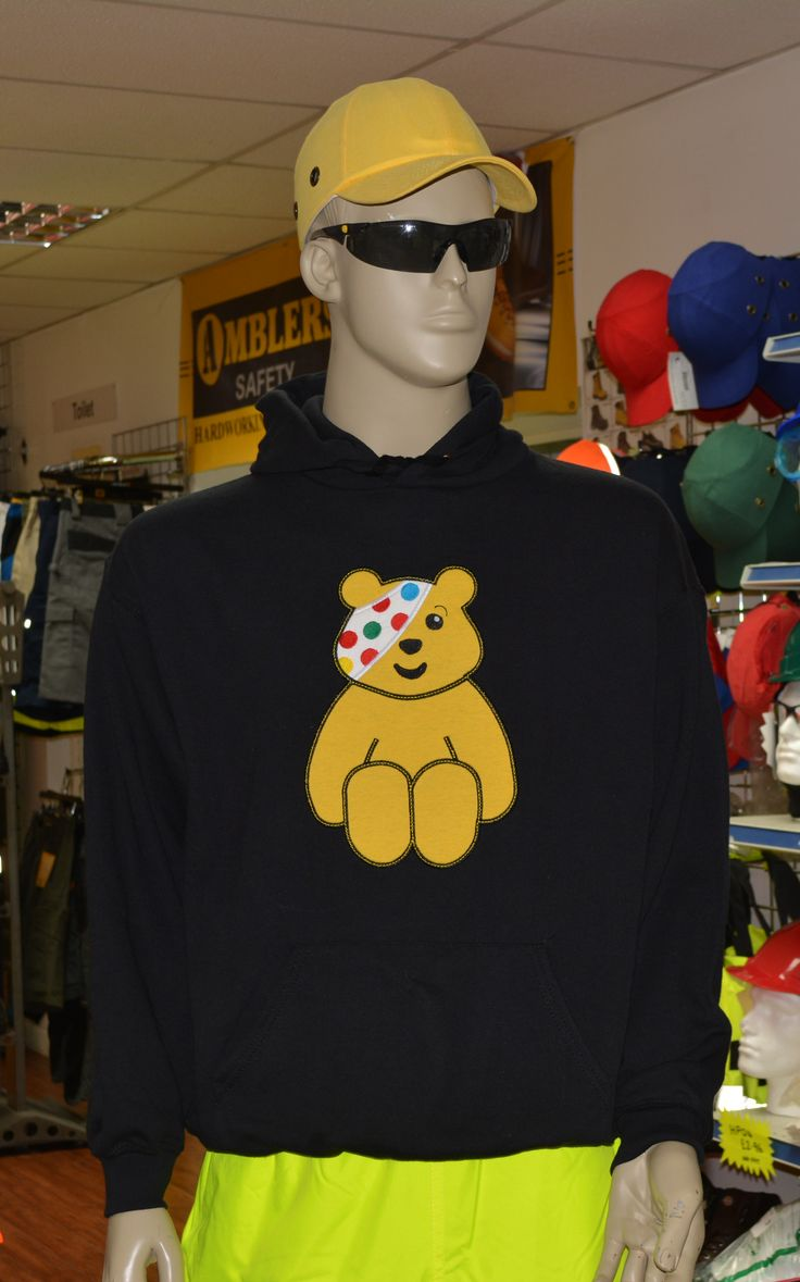 We're raising money today in our Peterborough shop, for BBC Children in Need. Why not drop by and enter our raffle for this special CiN hoodie, created by our brilliant Embroidery team!