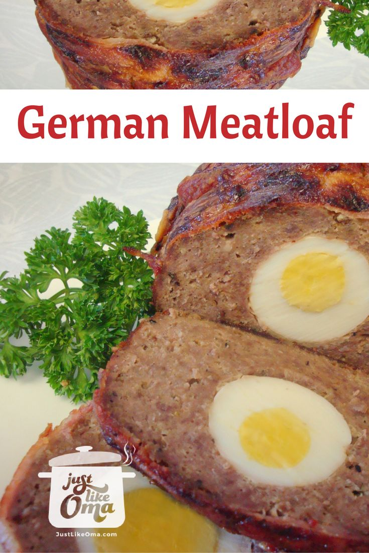 Best Meatloaf Recipe  -- German style -- easy, delicious! Hide some hard boiiled eggs inside. Check out http://www.quick-german-recipes.com/quick-meatloaf.html