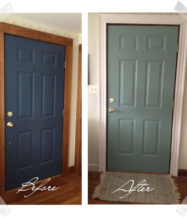 Diy painted door painted interior doors paint doors and for Wood doors painted trim