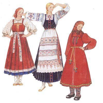 Нижегородская губерния народные костюмы